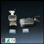 1.5mm wire hole CAT7 RJ45 modular plug with clip